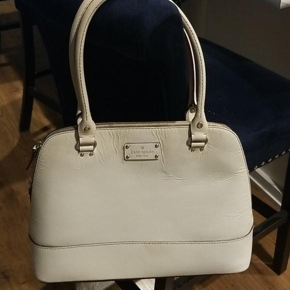 Kate Spade Large Off White/Cream Dome Handbag
